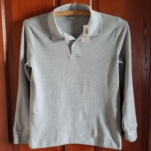 Boys Gray Old Navy Polo Shirt NWT